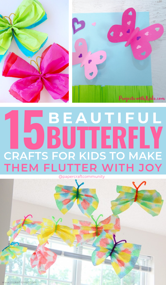15 Beautiful Butterfly Crafts For Kids That Will Make Them Flutter With Joy #kidscrafts #kidscraft #butterflycraft #butterflycrafts #preschoolerscrafts