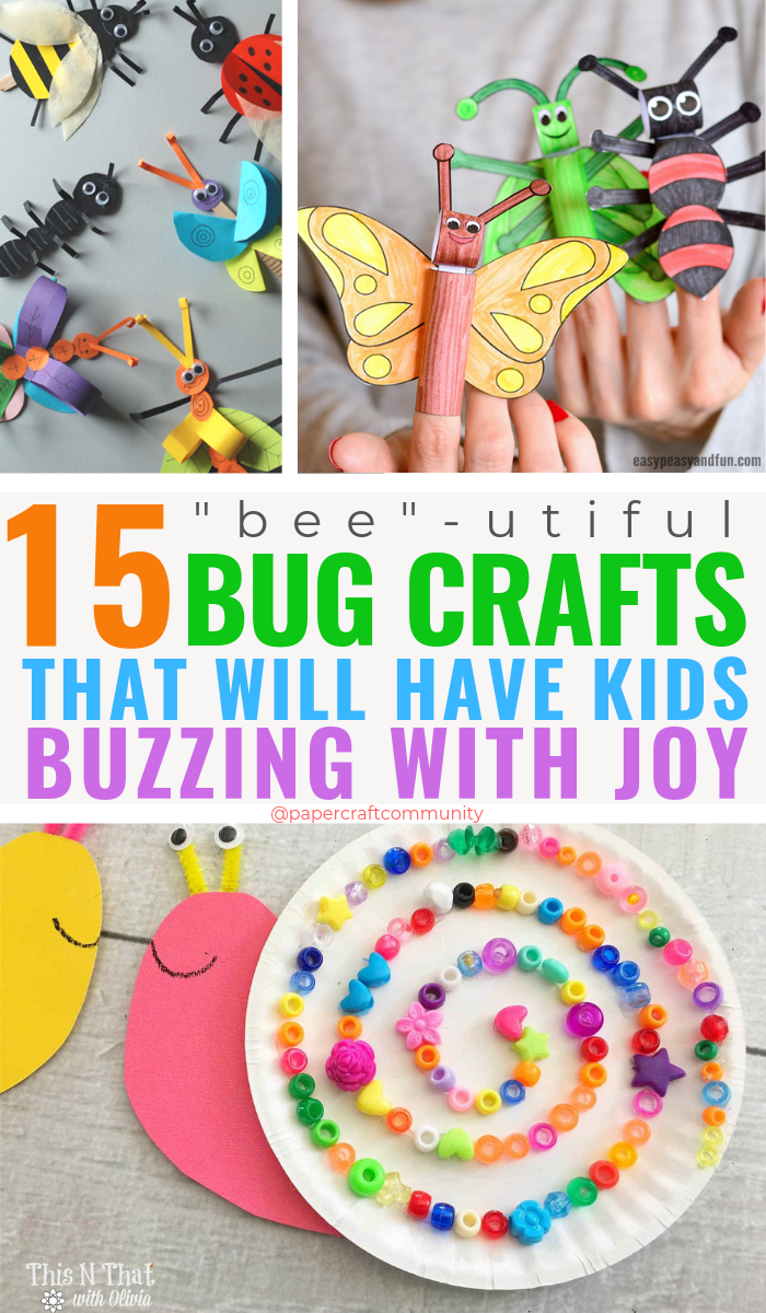 Bug And Insect Crafts That Will Have Kids Buzzing With Joy, Activities with bugs that could work for preschoolers #bugcrafts #insectcrafts #kidcrafts #kidcraft #artsandcrafts