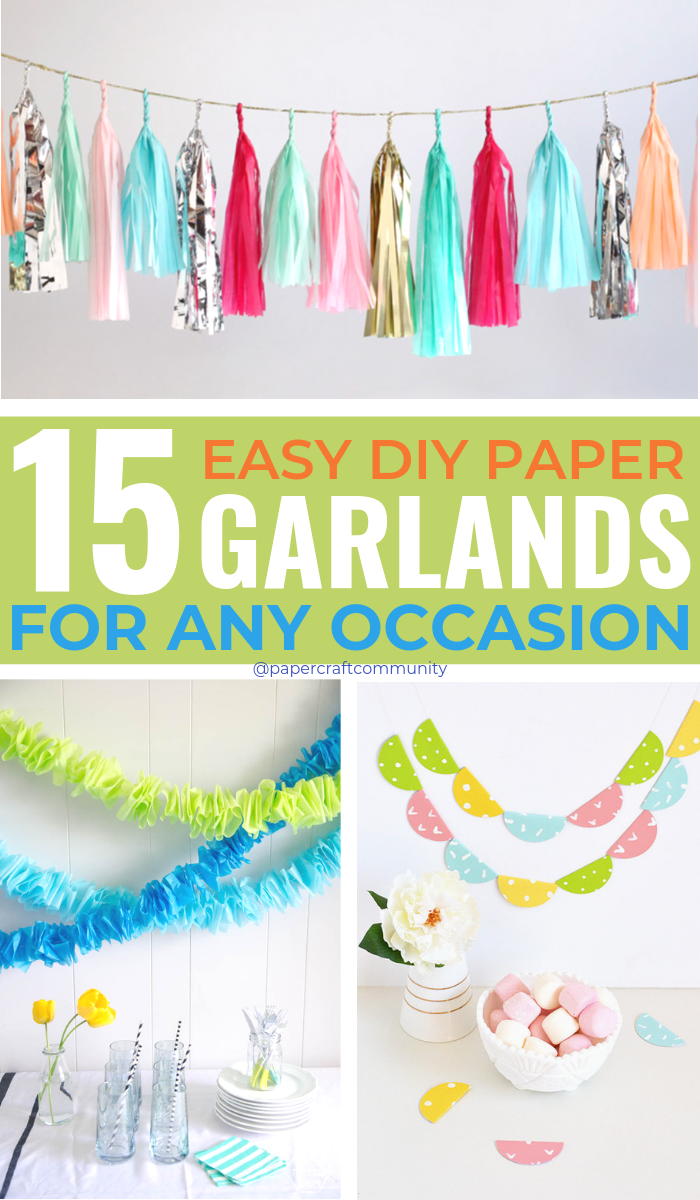 Easy DIY Paper Garland Ideas For Any Occasion, how to make paper garlands for backdrop and decor #papercraft #papercrafts #papergarland #paperbanner #diyparty