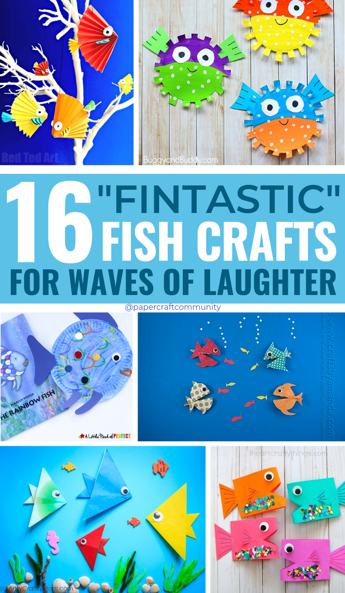 Fintastic Fish Crafts For Kids For Waves Of Laughter, easy diy fish and ocean themed arts and crafts for preschoolers #kidscrafts #kidscraft #fishcrafts #oceancrafts #kidsactivities
