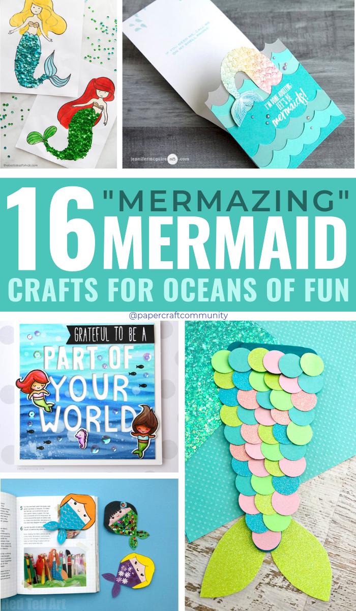 Mermazing DIY Mermaid Crafts For Oceans Of Fun #kidscraft #kidscrafts #mermaid #mermaidcrafts #oceancrafts #oceancraft