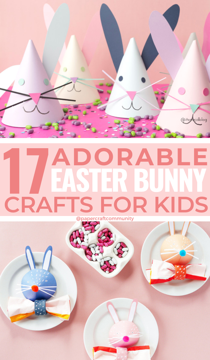 Adorable Paper Bunny Craft Ideas For Kids To Celebrate Spring #easter #easterbunny #papercraft #papercrafts #eastercraft #eastercrafts #kidscraft #kidscrafts