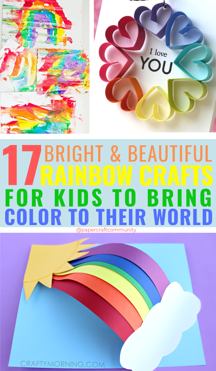 17 Bright Rainbow Crafts For Kids To Bring Color To Their World, colorful craft activities for preschoolers #rainbow #rainbowcrafts #rainbowcraft #kidscraft #kidscrafts