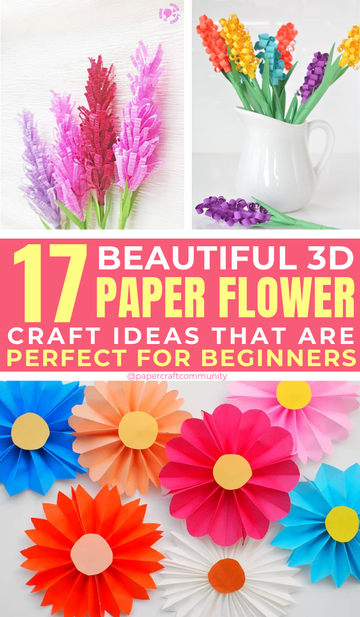 Easy 3D Paper Flower Craft Ideas To Make At Home, to to maker paper flowers tutorial #paperflowers #paperflower #papercraft #papercrafts