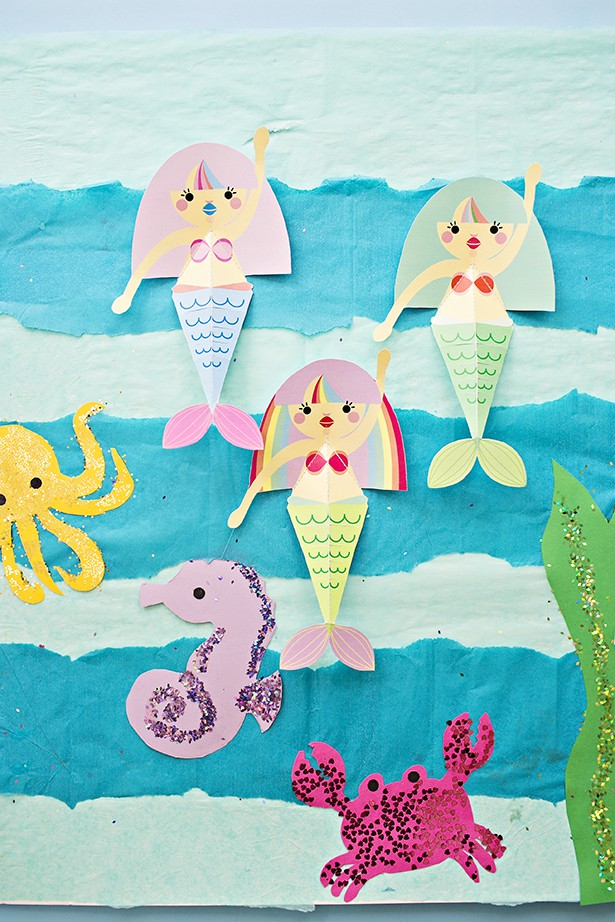 5-swimming-mermaid-paper-printable-craft