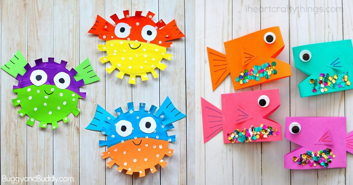 16 Fintastic Fish Crafts For Kids For Waves Of Laughter