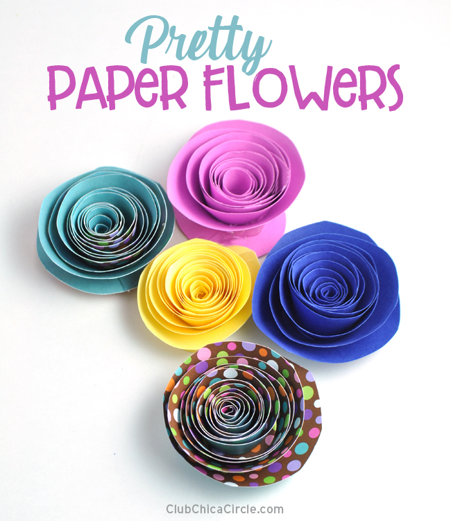 How-to-make-pretty-paper-flowers-fun-and-easy-DIY-craft-@chicacircle