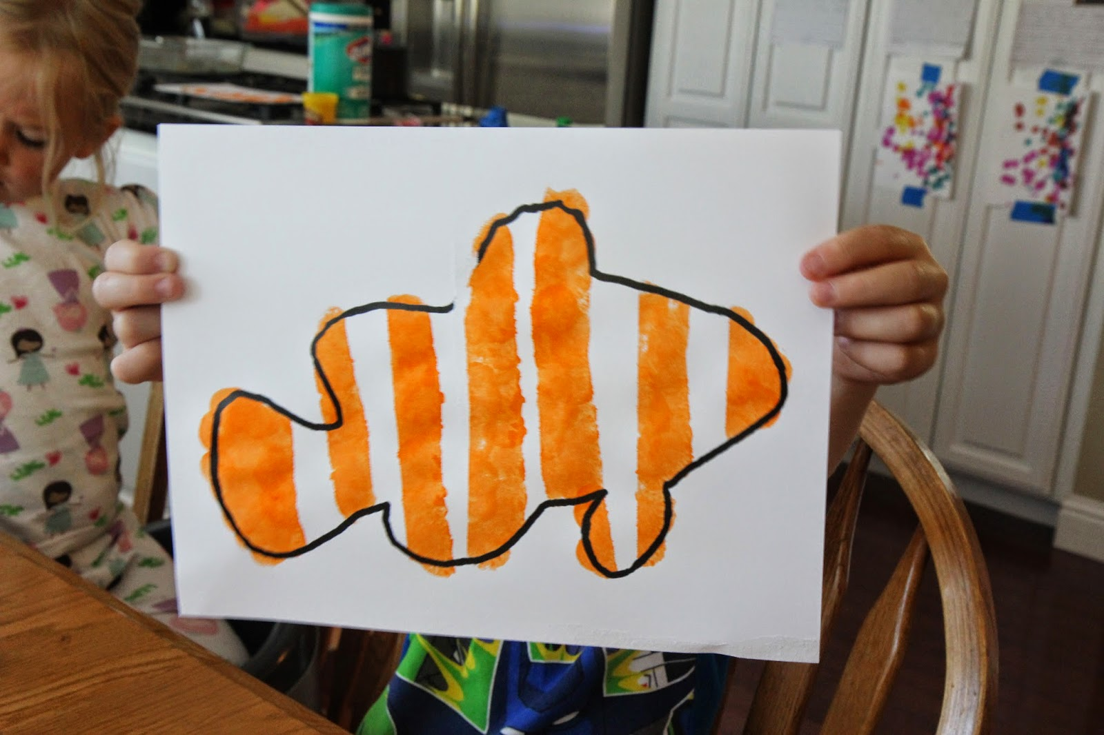 clown fish art