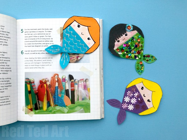 Mermaid-bookmark-corner
