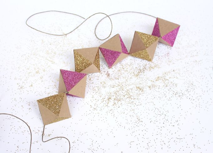 glittery-geometric-paper-garland-by-lines-across