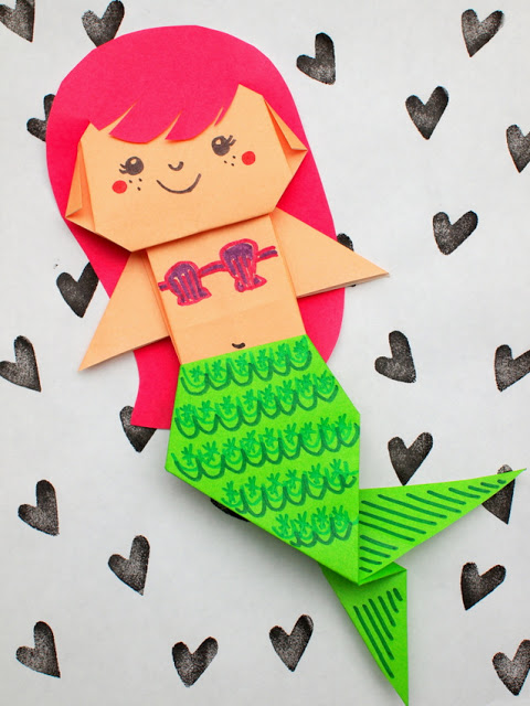 origami mermaid