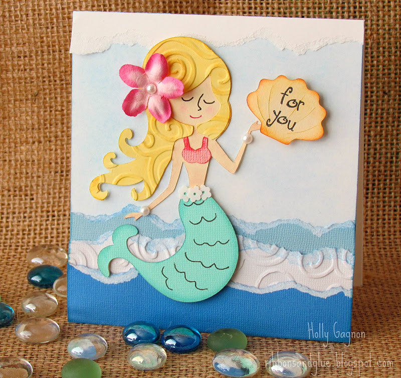 paper tear mermaid