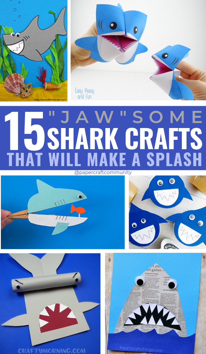 Jawsome Shark Crafts For Kids That Will Make A Splash, Shark Activity and Templates for Preschoolers #kidscraft #kidscrafts #sharkcrafts #oceancrafts #kidsactivities