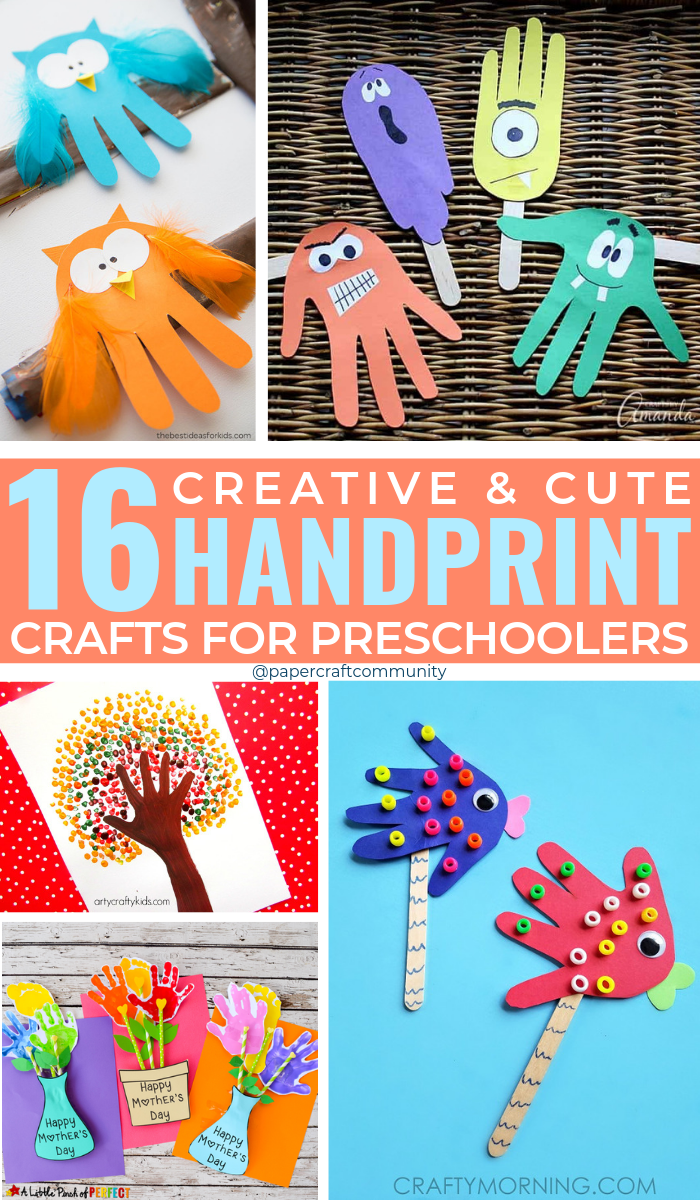 Creative Handprint Crafts For Preschool Kids, Handprint art for toddlers #handprintcrafts #handprintart #artsandcrafts #kidsactivities