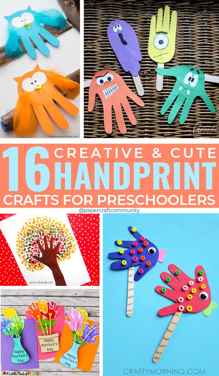Creative Handprint Crafts For Preschool Kids, Handprint art for toddlers #handprintcrafts #handprintart #artsandcrafts #kidsactivities