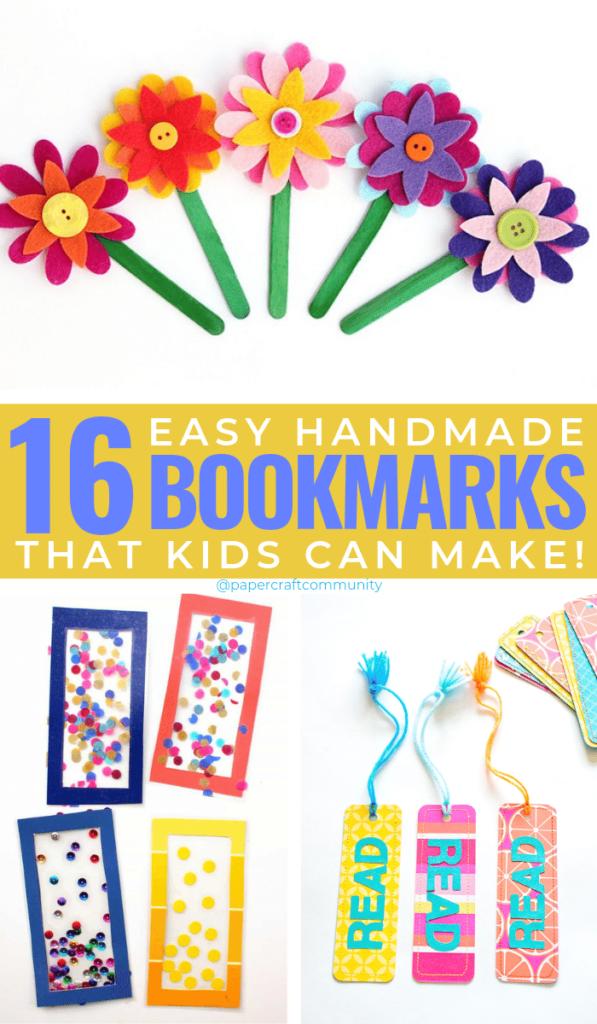 Easy Handmade Bookmark Ideas For Kids To Make, DIY bookmark ideas #kidscraft #kidscrafts #kidsactivities #diybookmarks #bookmarks #bookmark