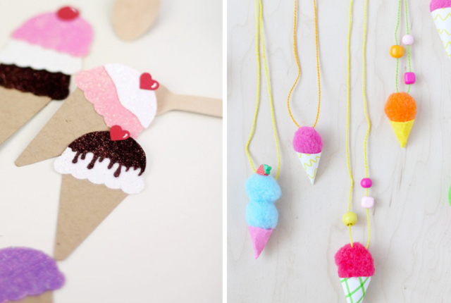 15 Cool Ice Cream Crafts For Kids To make