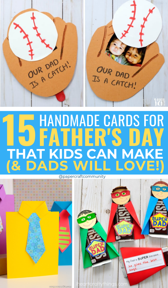 DIY Father's Day Cards That Kids Can Make (And Dads Will Love!), Handmade card for dad #fathersday #fathersdaygift #fathersdaycard #happyfathersday