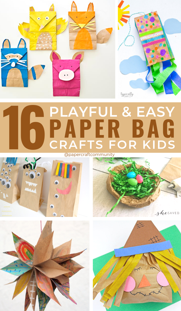 Playful Paper Bag Crafts and Activities For Kids To Make #kidscrafts #kidsactivities #artsandcrafts #paperbag #paperbagcrafts