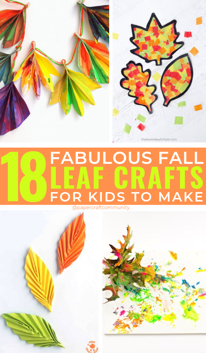 Fabulous Fall Leaf Crafts For Kids That Are Perfect For Autumn, Fall Crafts for Toddlers and preschoolers #fallcrafts #autumncrafts #kidscrafts #fallleaves #kidsactivities