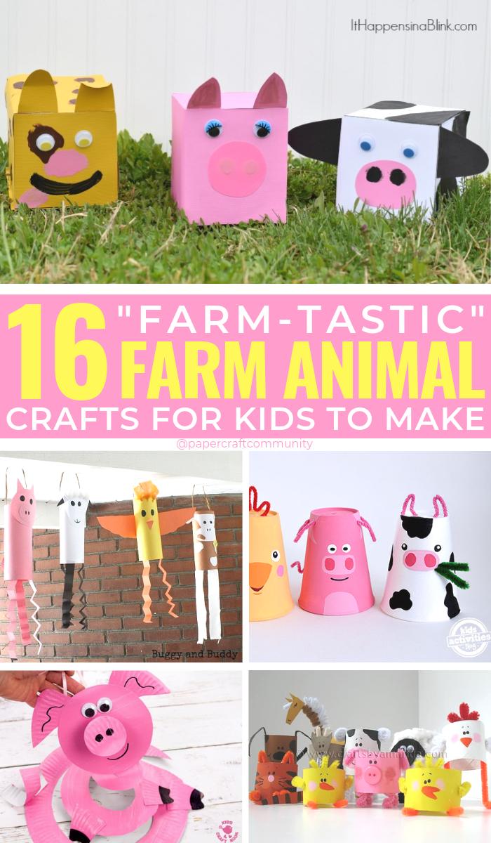 """Farm Animal Crafts For Kids That are """"Udderly"""" Adorable, Barn animal art #kidscraft #kidscrafts #farmanimals #farmanimal #farmcrafts"""