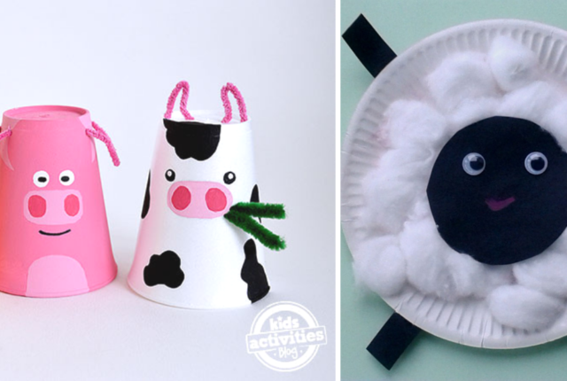 "16 Farm Animal Crafts For Kids That are ""Udderly"" Adorable"