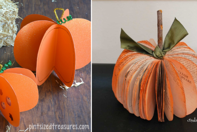 17 Simple And Easy Fall Pumpkin Crafts For Kids To Make